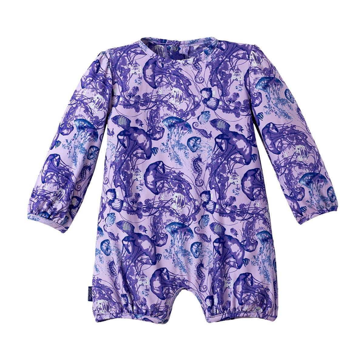 UV SKINZ UPF 50+ Baby Girls UV Sunzie Purple Jellyfish
