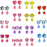 YADOCA Clip on Crystal Earrings No Pierced Cute Colorful Dress up Princess Play Jewelry Non Piercing Ear Clip Earrings…