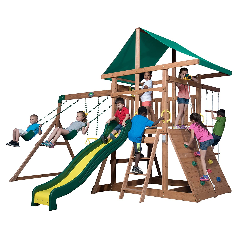 amazon com backyard discovery mount mckinley all cedar wood swing