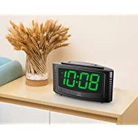 DreamSky Little Digital Alarm Clock with Snooze (Black + Green)