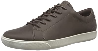 Mens Ecco Gary Casual Tie Sneakers Dark Clay CUJ44467