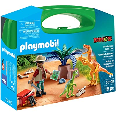 PLAYMOBIL Dino Explorer Carry Case: Toys & Games