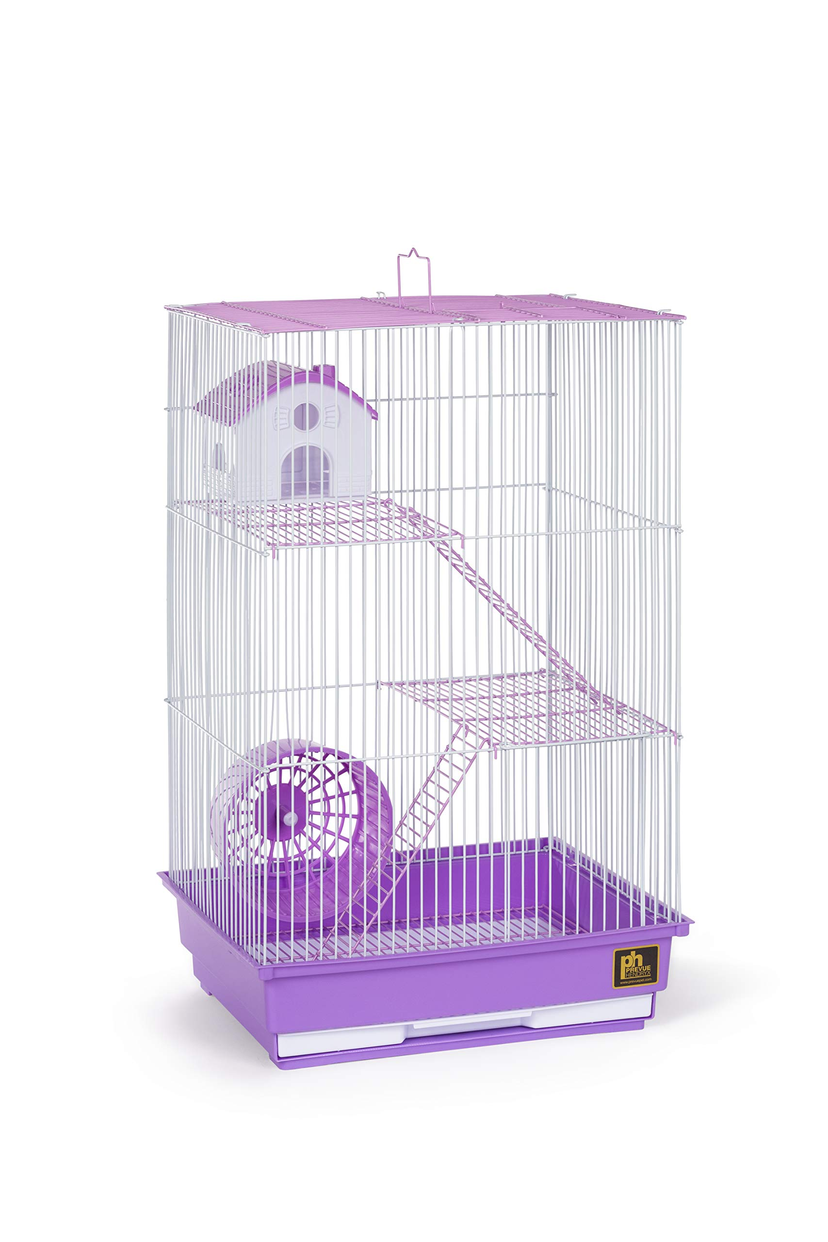 Prevue Pet Products Three-Story Hamster & Gerbil Cage Purple & White SP2030P