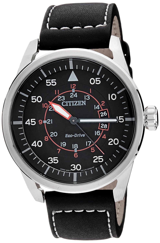 Citizen Herren-Armbanduhr Analog Quarz Leder AW1360-04E