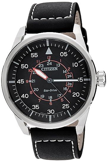 Citizen AW1360-04E - Reloj , correa de cuero color negro: Amazon.es: Relojes