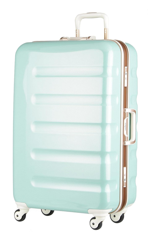 【レジェンドウォーカー】LEGEND WALKER スーツケース アルミフレーム 鏡面ボディ TSAロック 軽量 機内持込~大型 B01N0T3OJ5 SSサイズ-47cm(1~3日)|グリーンカーボン グリーンカーボン SSサイズ-47cm(1~3日)