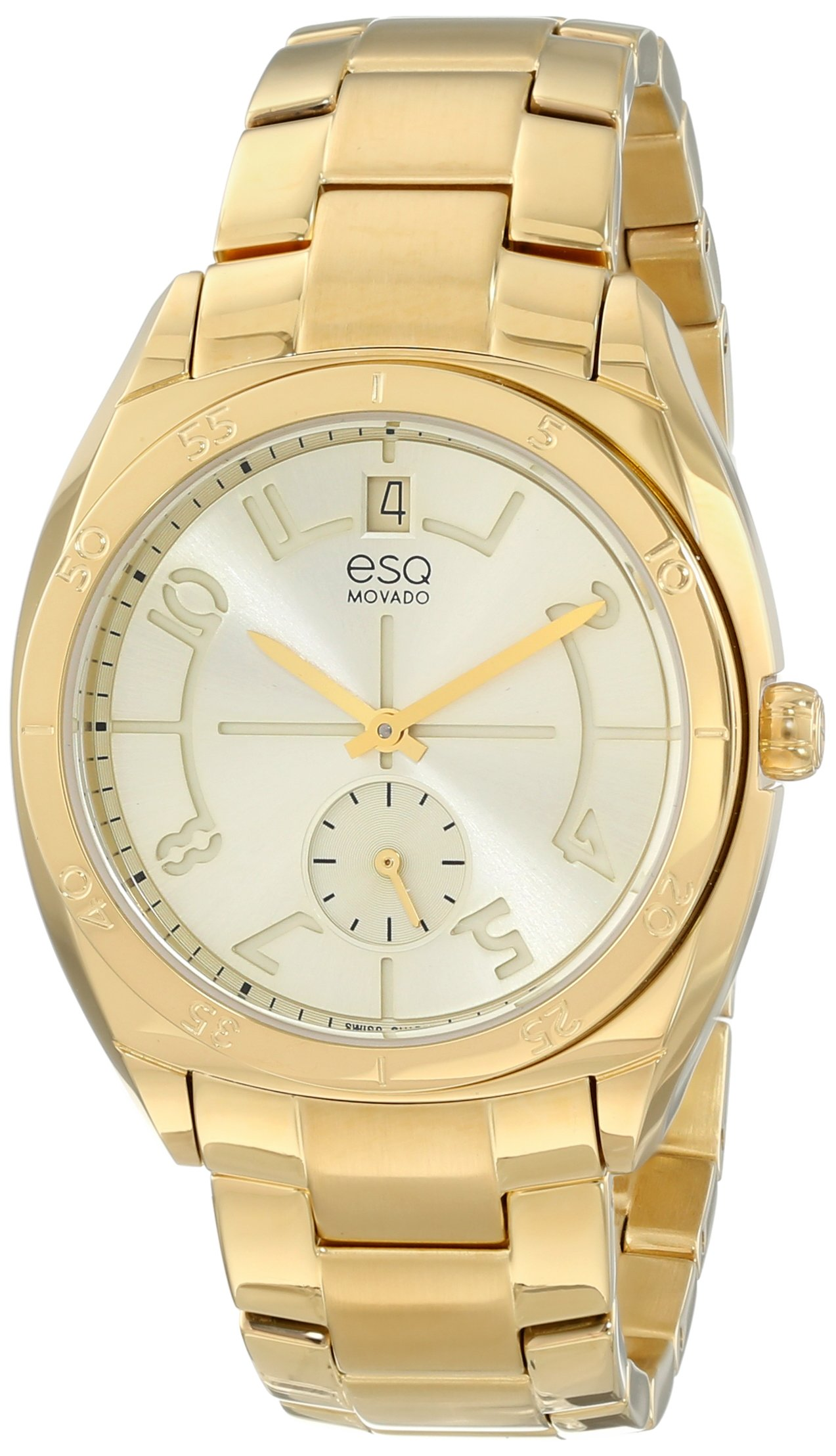 ESQ Movado Women's 07101401 esq ORIGIN Tonneau-Shaped Gold-Plated Watch