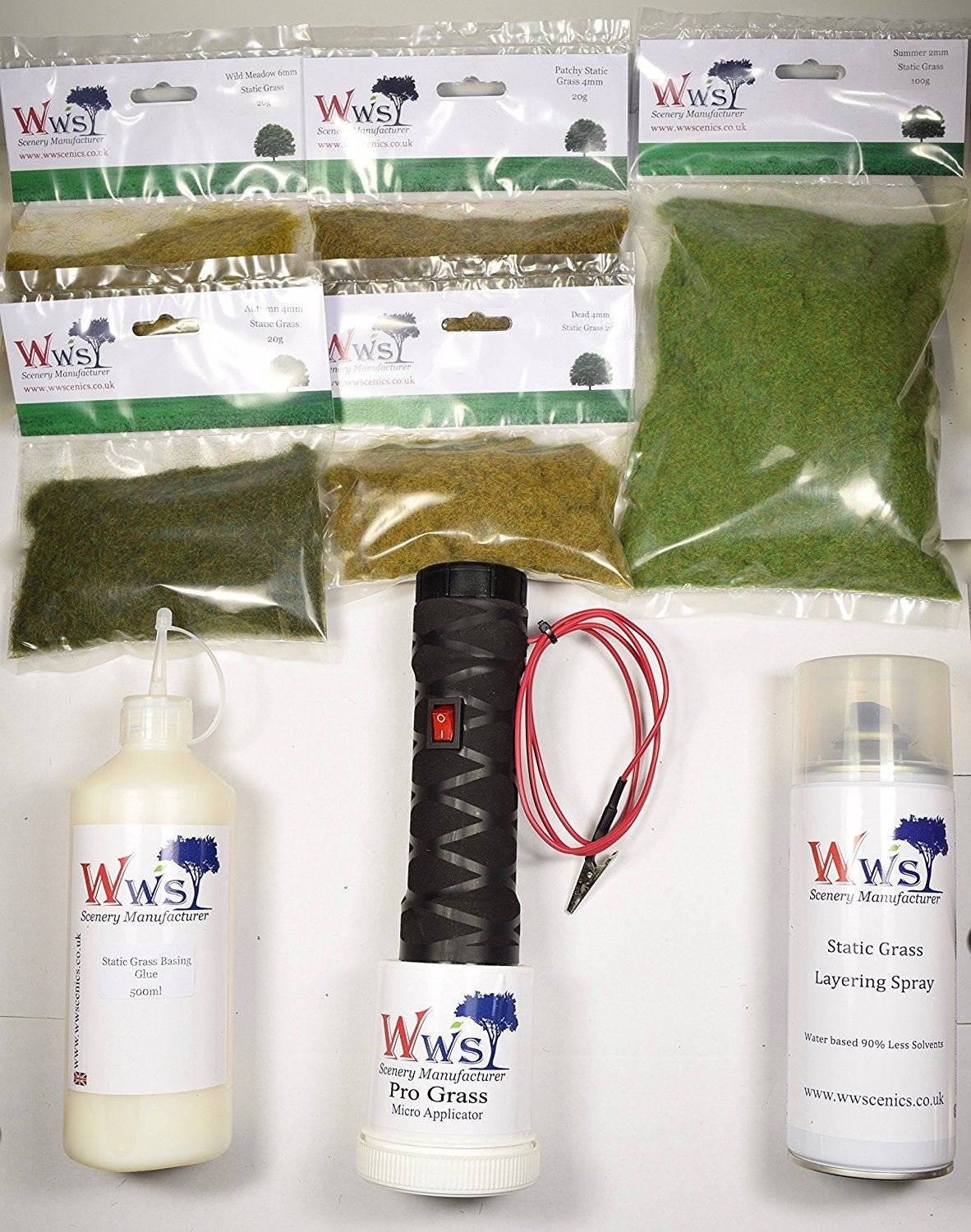 WWS - Micro Static Grass Applicator Scenery Kit MSK0001 by WWS Scenic Manufacturer