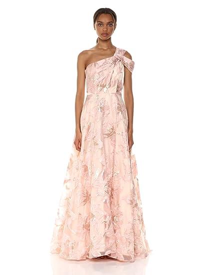 335d9d903006f0 Carmen Marc Valvo Infusion Women's One Shoulder Burnout Ballgown at Amazon  Women's Clothing store: