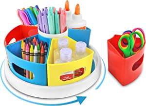 Creative Caddy - 360° Rotating Art Supply Organizer for Kids, School Craft Organizers and Storage, Homeschool and Classroom Supplies for Teachers Elementary, Kindergarten Teacher Desk Organization