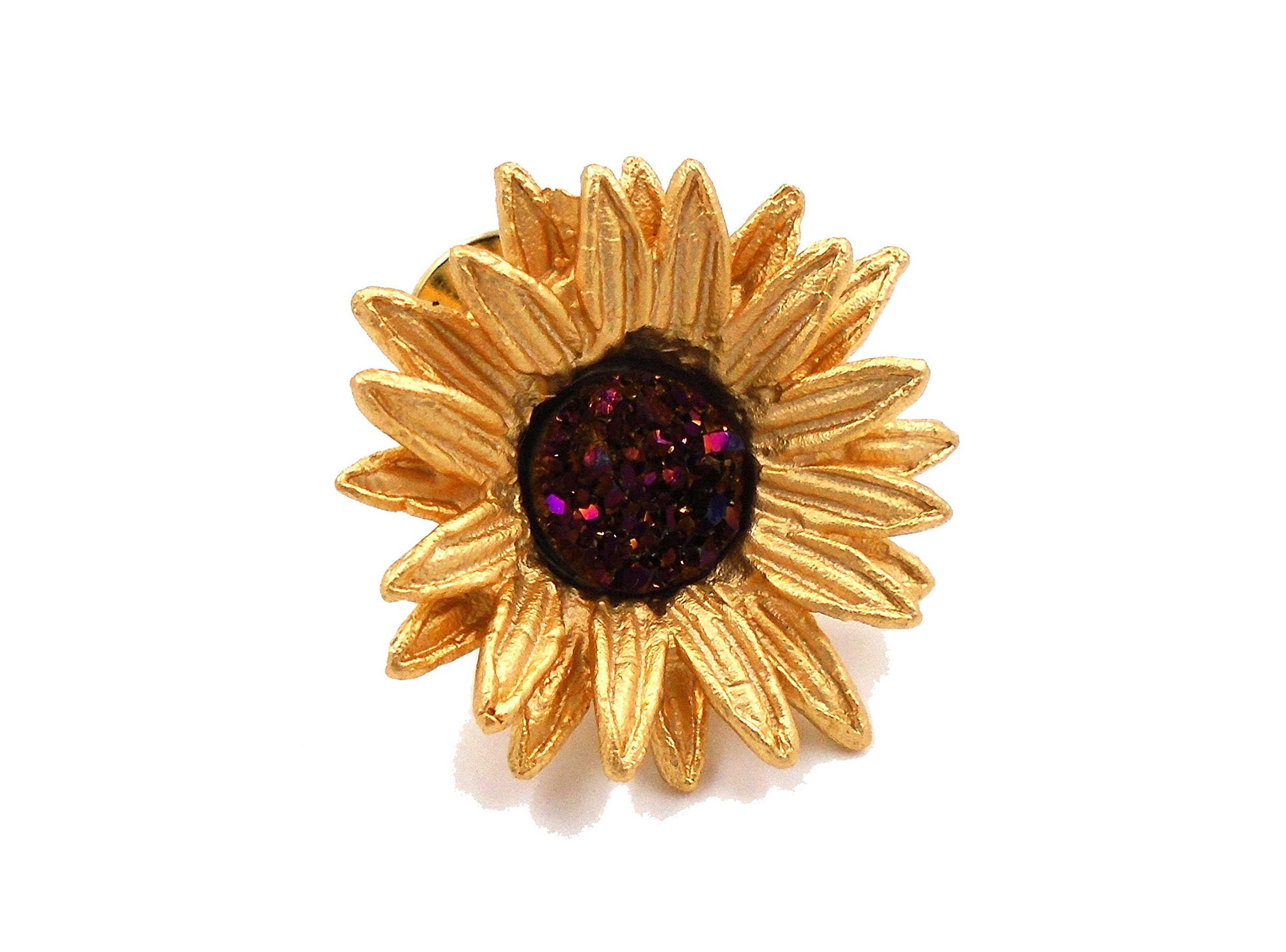 ''Sunflower'' Tack Pin By Michael Michaud for Silver Seasons…