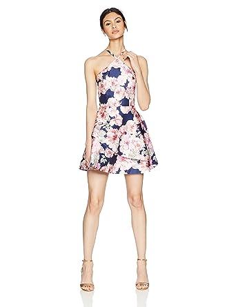 30f9fe6c Amazon.com: Speechless Women's Printed Mikado Short Party Dress (Junior's):  Clothing