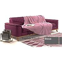 Sofa Şönil Dokuma Kaymaz Koltuk Örtüsü Şalı Takım - 12 renk seçeneği (Rose, Polyester)