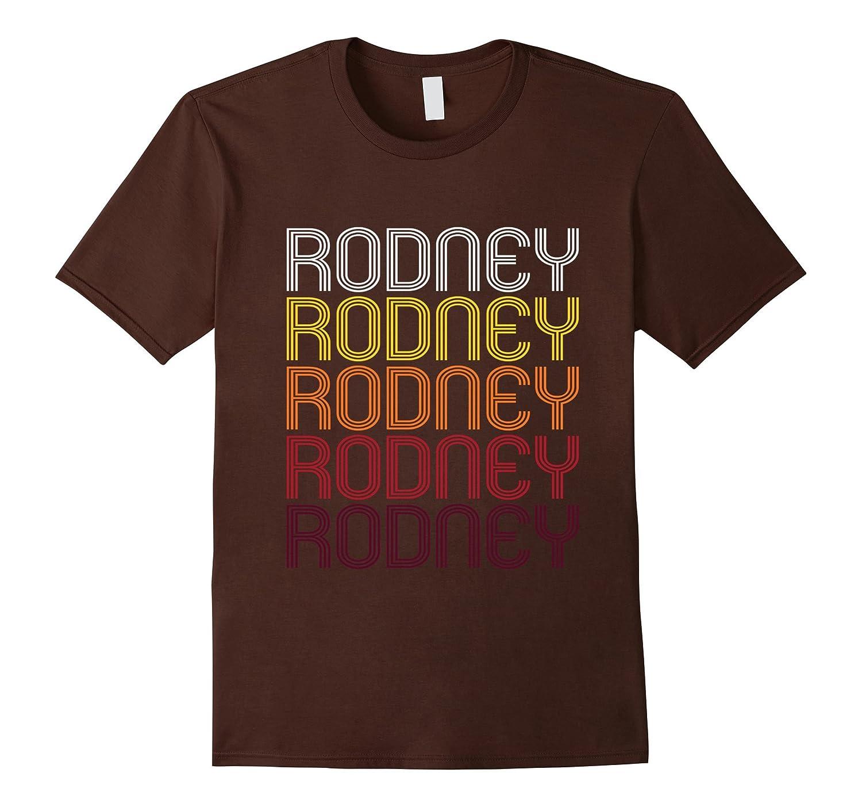 Rodney Retro Wordmark Pattern - Vintage Style T-shirt-Vaci