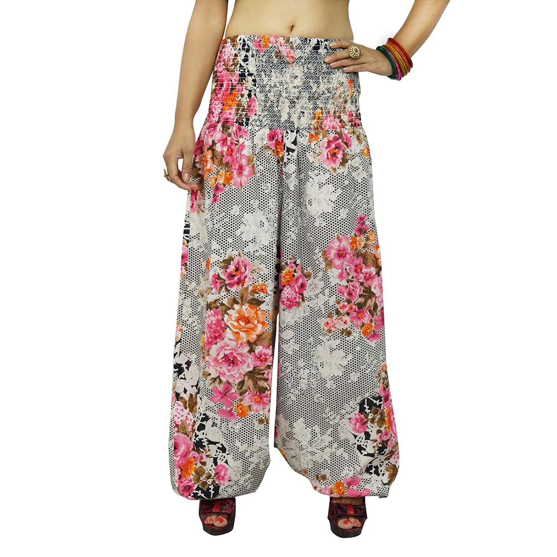 Blumendruck-Yoga-Hosen-elastische Mehrfarbenhose Strand Harem Pyjamas One GRÖSSE