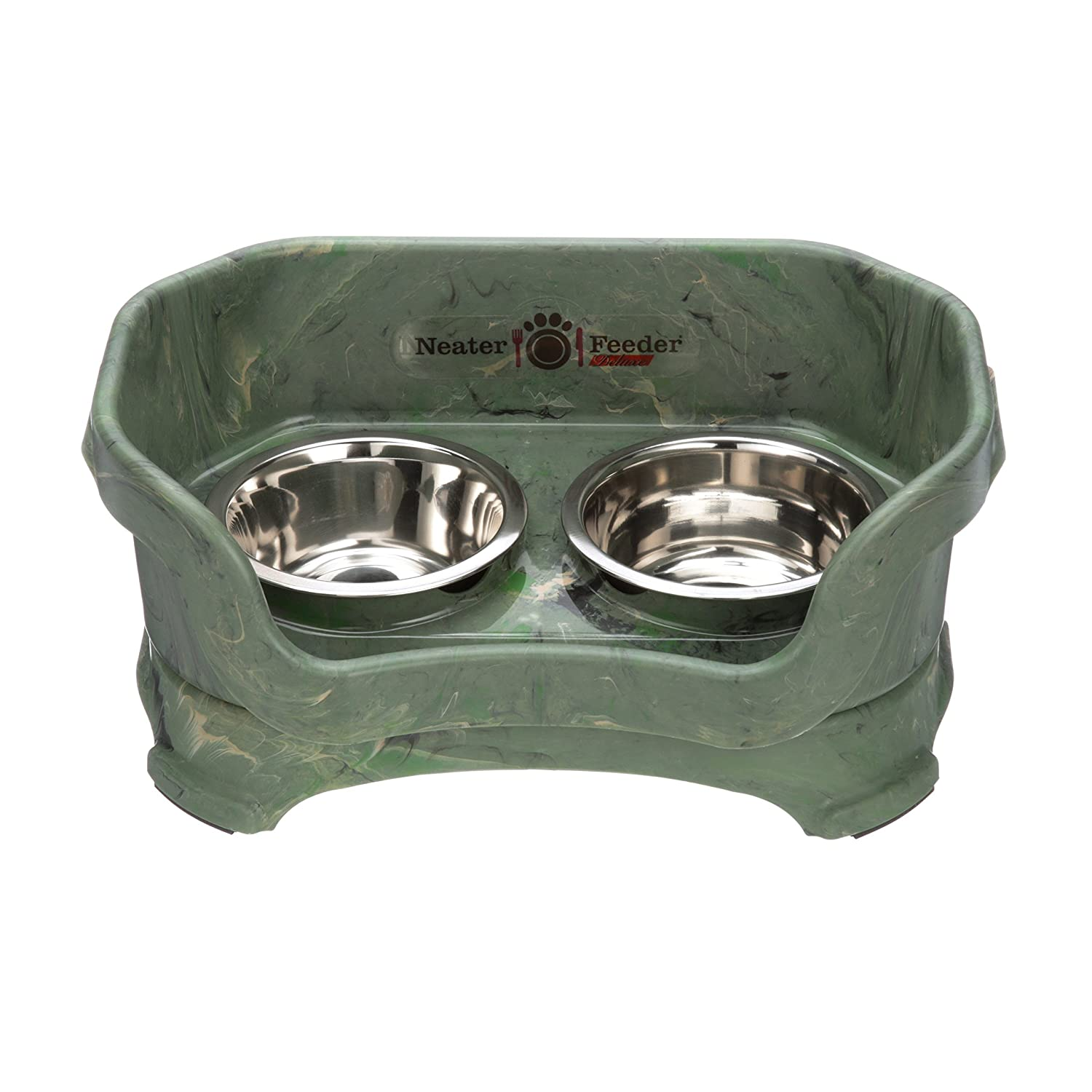 Camo Green SmallNeater Pet Brands 100220CT Deluxe Pet Bowl for Medium Dogs, Cranberry