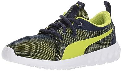 c308b7efc306 PUMA Carson 2 Breathe Sneaker Peacoat-Limepunch 1.5 M US Little Kid