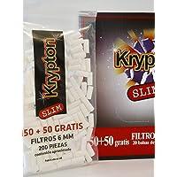 4000 Filtros Krypton 6mm slim para tabaco