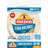 Mission Carb Balance Soft Taco Flour Tortillas | Low Carb, Keto | High Fiber, No Sugar | Small Size | 8 Count