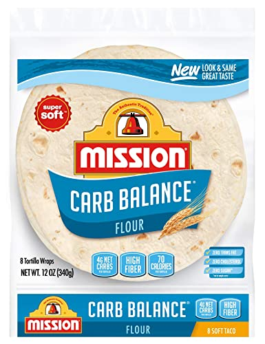 Mission Carb Balance Soft Taco Flour Tortillas | Low Carb, Keto | High Fiber, No Sugar
