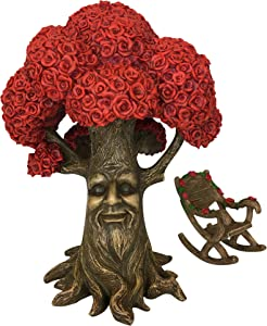 GlitZGlam Fairy Garden Miniature Tree: Mr. Rose The Red Rose Tree of Azar (9 Inch Tall) for The Garden Fairies and Gnomes. Part of The Beautiful Azarian Collection. A Fairy Garden Accessory