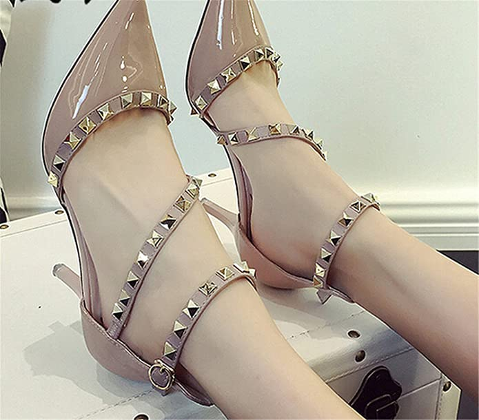 NEW woman High heels shoes Ladies Sexy Pointed Toe pumps Buckle nude heels  dress wedding shoes: Amazon.ca: Shoes & Handbags