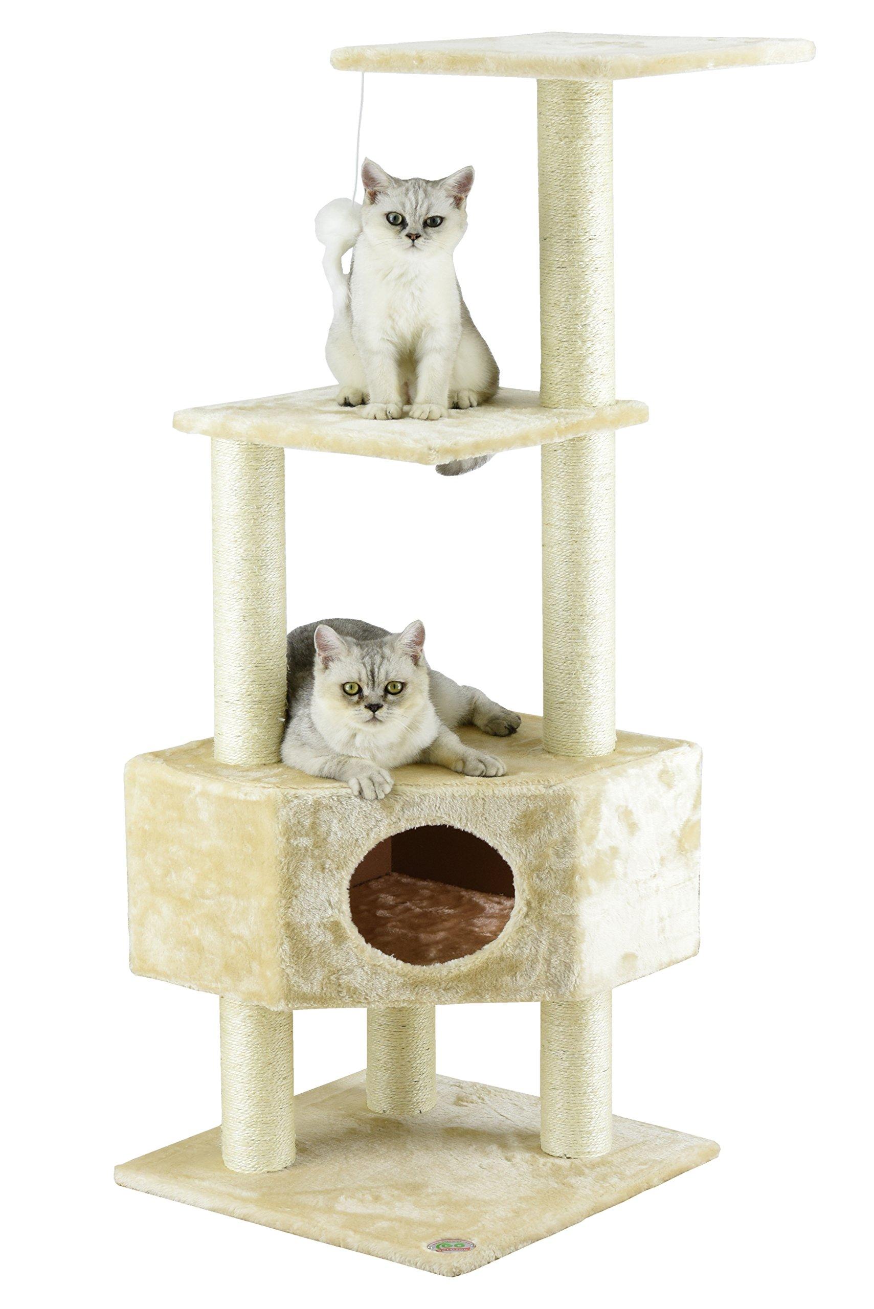 Go Pet Club Cat Tree Beige Color by Go Pet Club