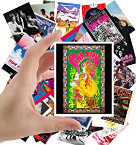 """Large Stickers (24pcs 2.5""""x3.5"""") PINK FLOYD Rock Music Posters Photos Vintage Magazine covers"""