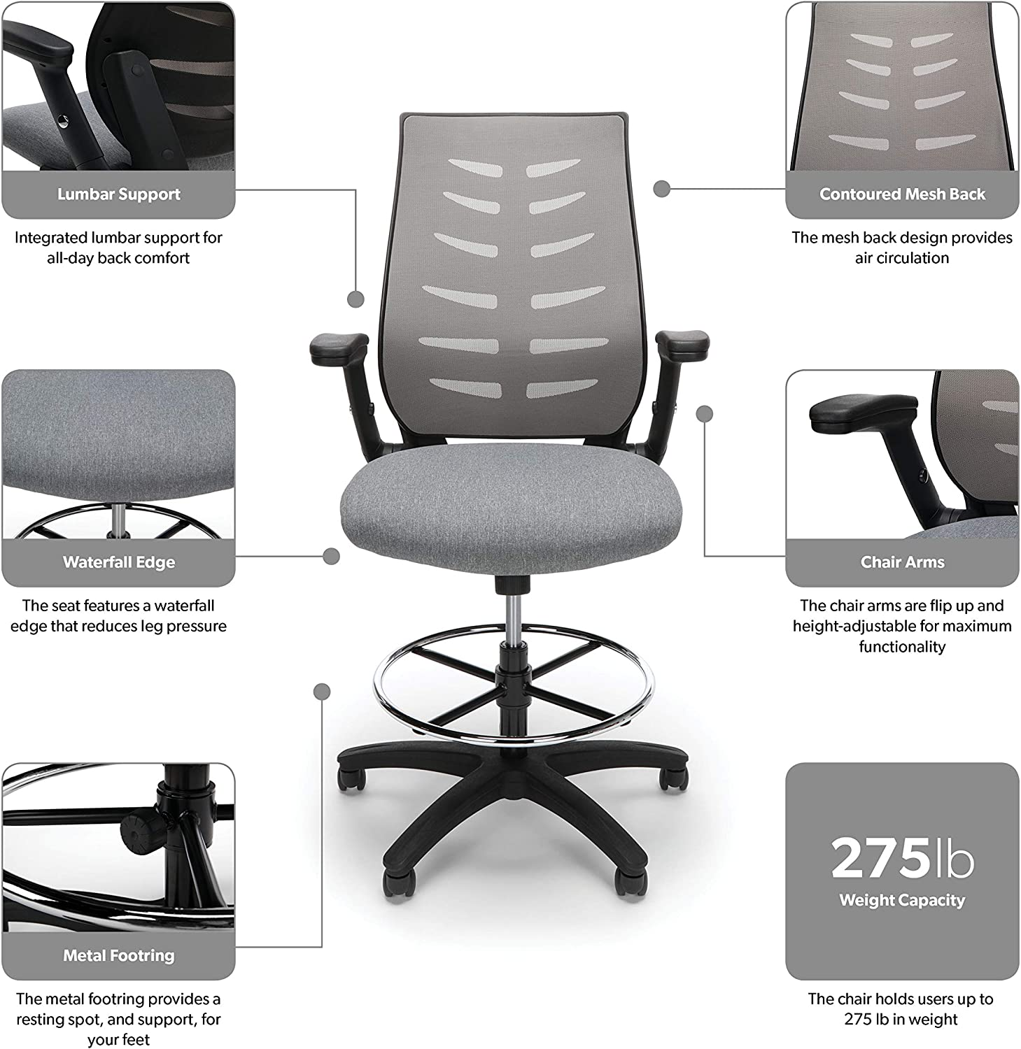 81ebXn%2BsdHL. AC SL1500 - What Is The Best Drafting Chair For Standing Desk - ChairPicks