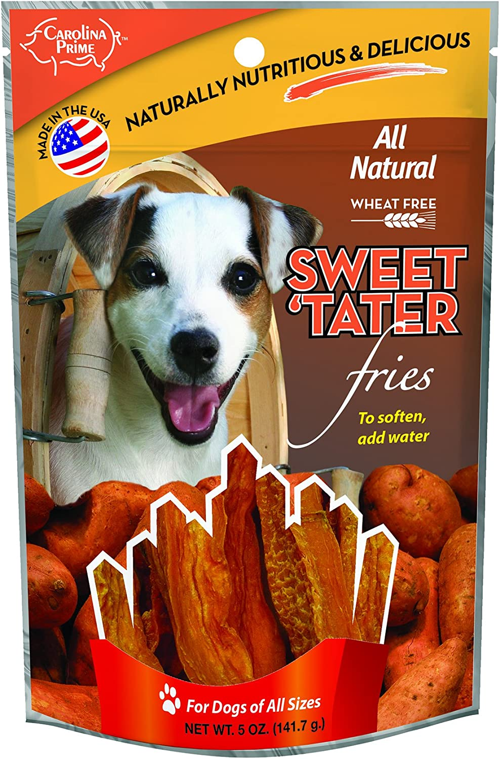 Carolina Prime Pet 45031 Sweet Tater Fries Treat for Dogs (1 Pouch), One Size