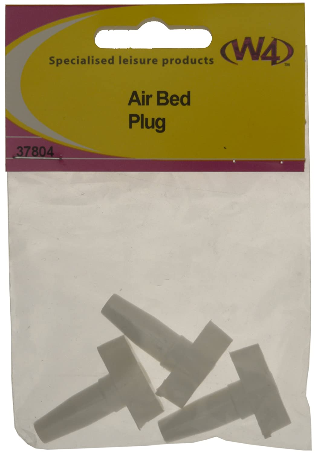 W4 Airbed Plug - White, 3 Pack