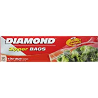 Diamond Storage Zipper Bags Large, 20ct, 27.9cm x 26.8cm