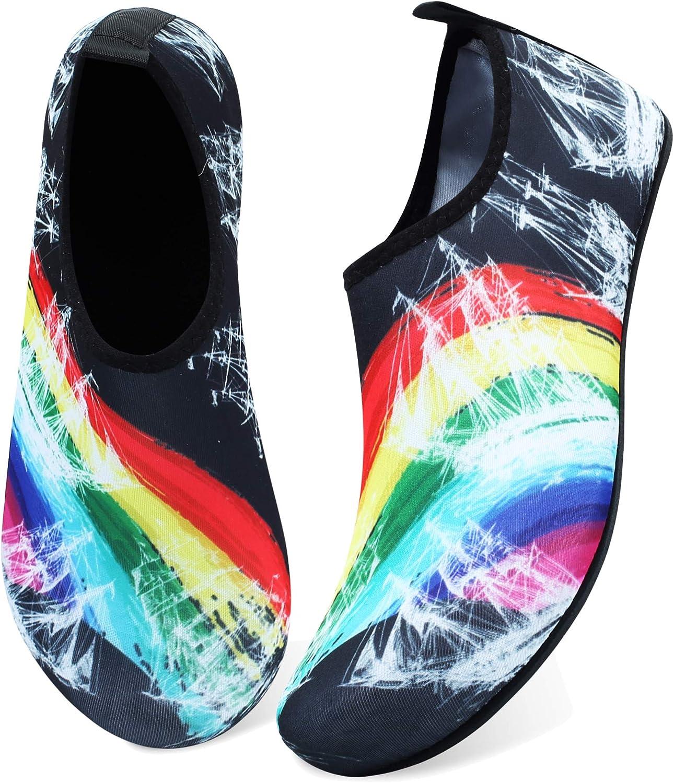 JOINFREE Women's Men's Kid Summer Water Shoes Barefoot Shoe Quick Dry Aqua Socks Yoga 81ebZQ0rNAL