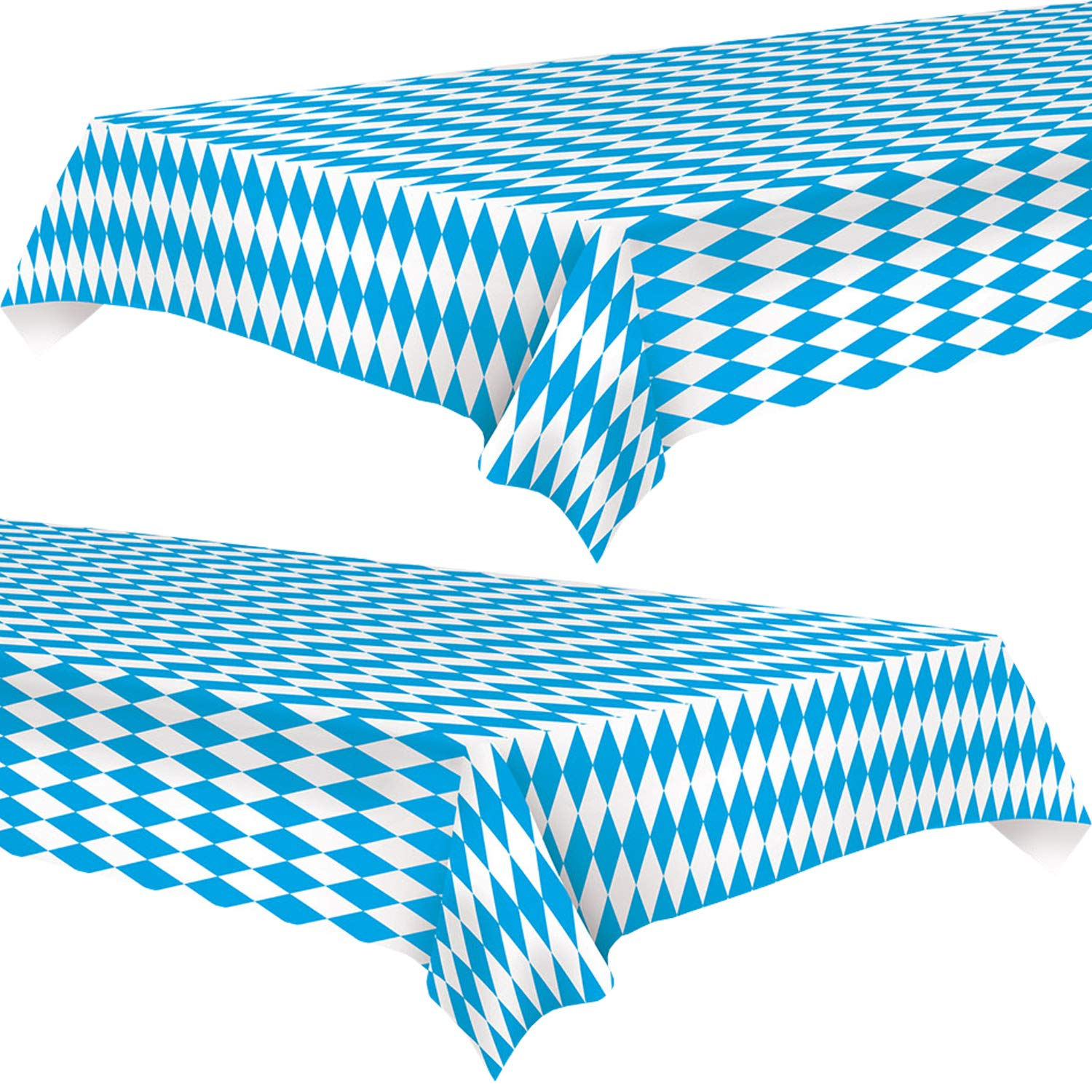 Oktoberfest Party Decoration: Table Cover 54'' x 108'' (2 Pack Plastic tablecloths) by Live It Up! Party Supplies