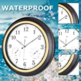 Large Outdoor Clock, Waterproof Wall Clock with