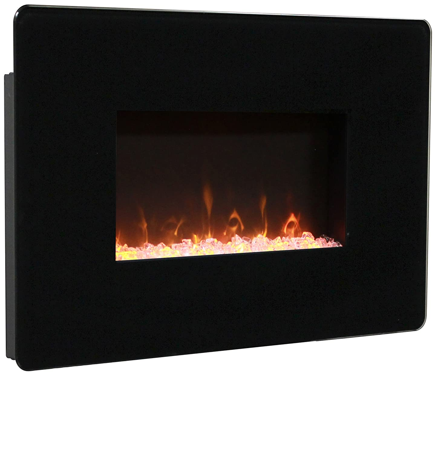 amazon com muskoka mh25bl pleasant hearth wall mount fireplace