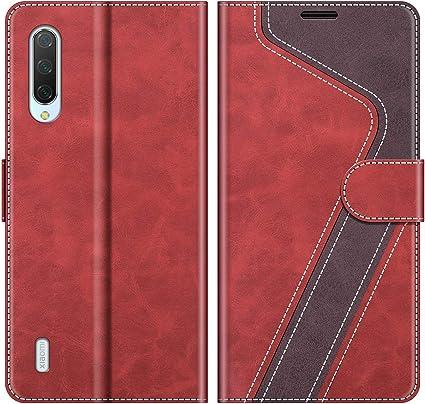 MOBESV Funda para Xiaomi Mi 9 Lite, Funda Libro Xiaomi Mi 9 Lite, Funda Móvil Xiaomi Mi 9 Lite Magnético Carcasa para Xiaomi Mi 9 Lite Funda con Tapa, Rojo: Amazon.es: Electrónica