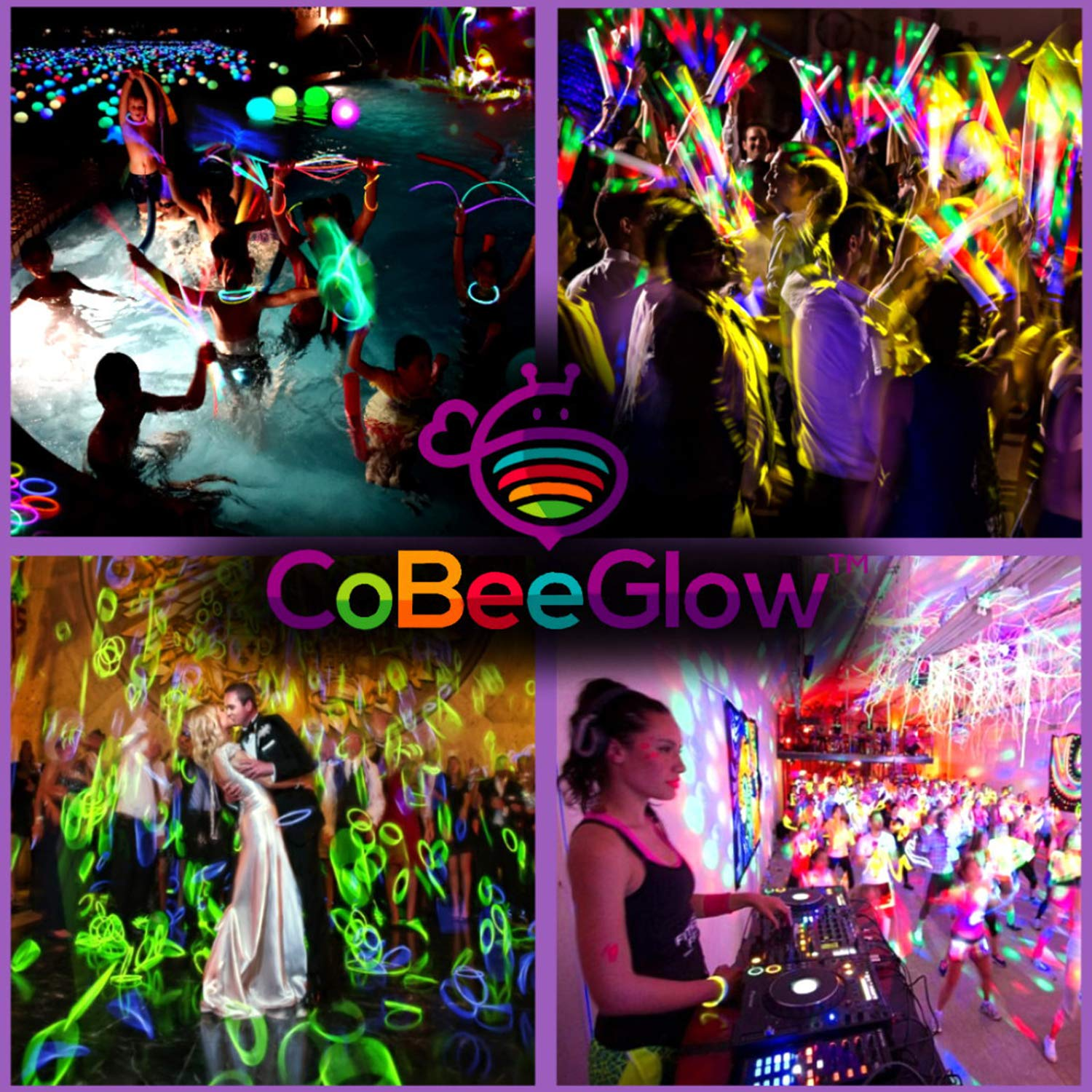 Glow Necklaces Bulk Party Supplies - 100 Glow in the Dark Necklaces - 22 Inch Glow Sticks - Extra Bright Neon Glow Necklace - Strong 6mm Thick - 9 Vibrant Neon Colors - Stuffers for Kids - Mix by CoBeeGlow (Image #7)