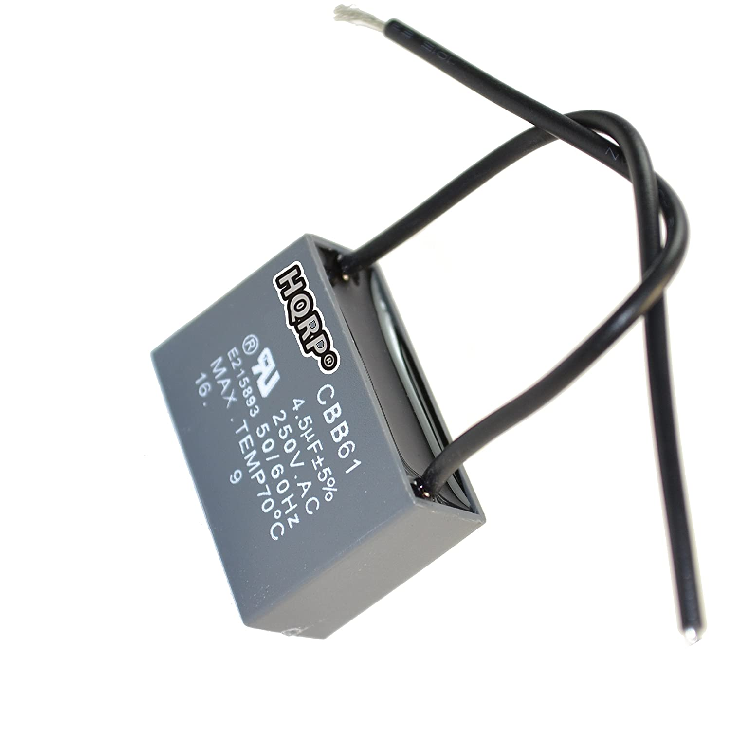 HQRP Capacitor for Hampton Bay Ceiling Fan 1.2uf+2.3uf 3-Wire plus HQRP Coaster
