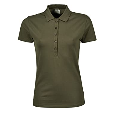 Tee Jays Womens/Ladies Luxury Stretch Short Sleeve Polo Shirt (S) (Olive