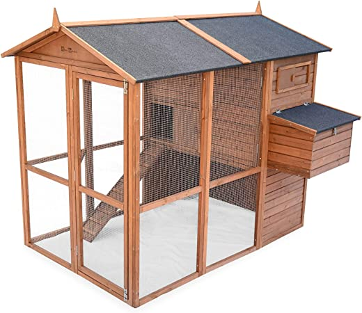 Alices Garden - Gallinero de madera America, de 6 a 8 gallinas ...