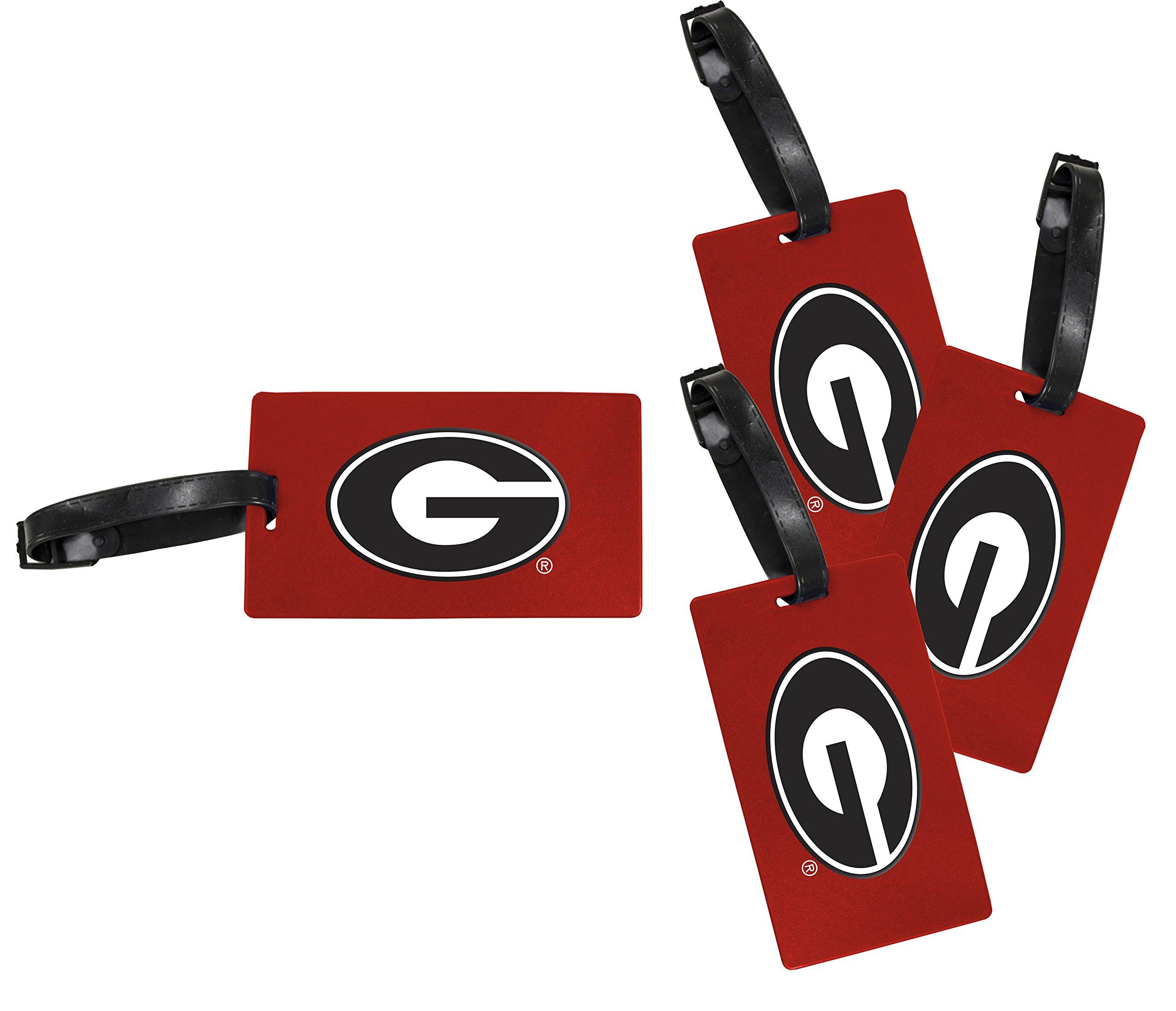 Georgia Bulldogs Luggage Tag 4-Pack