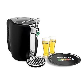 Krups máquina de cerveza con estuche de 2 vasos, color negro: Amazon.es: Hogar