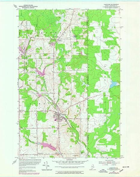 Amazon Com Yellowmaps Limestone Me Topo Map 1 24000 Scale 7 5 X