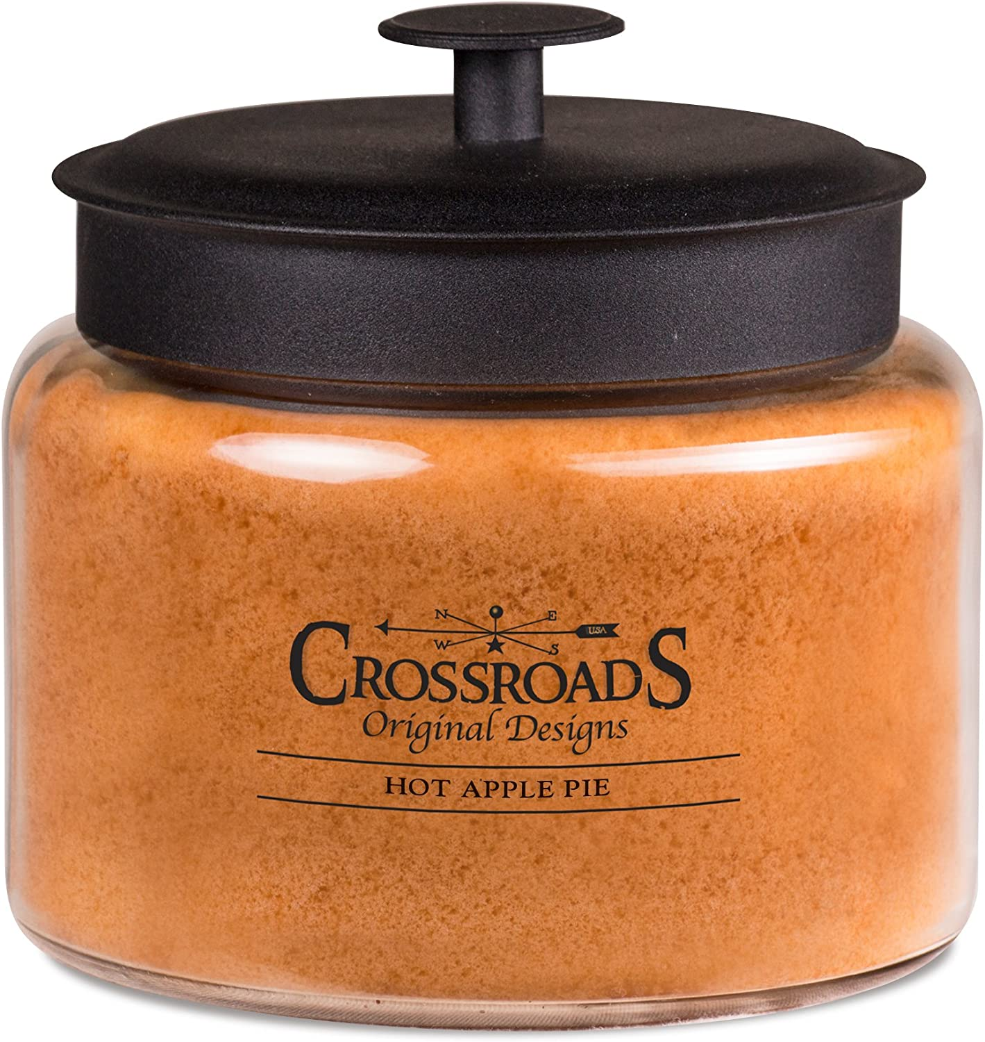 Crossroads Hot Apple Pie Scented 4-Wick Candle, 64 Ounce