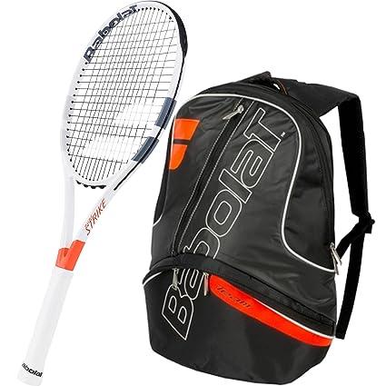 Babolat Pure Strike 26 cm Junior Raqueta de tenis paquete con un equipo de tenis mochila