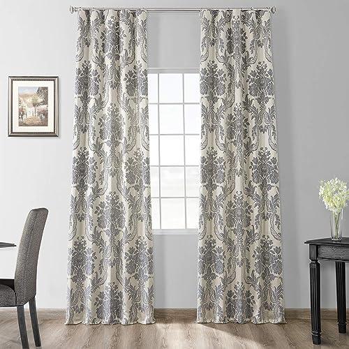 HPD Half Price Drapes JQCH-2012206-120 Designer Damask Curtain 1 Panel