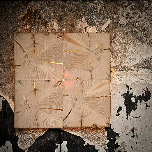 ALM Leuchten W1 Madera Vieja de techo/pared con flächigem Luz/de madera Lámpara