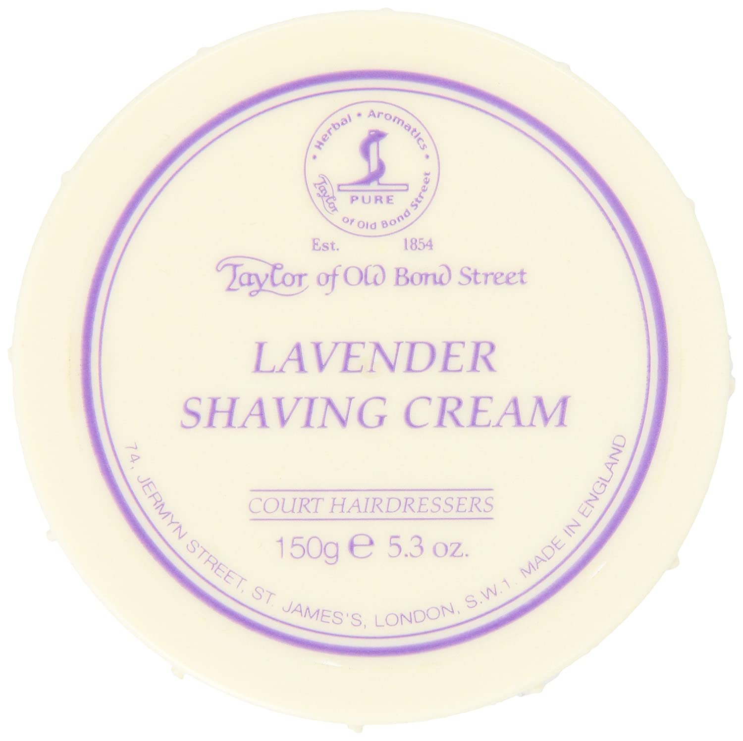 Taylor of Old Bond Street Lavender Shaving Cream Bowl, 5.3-Ounce 01003