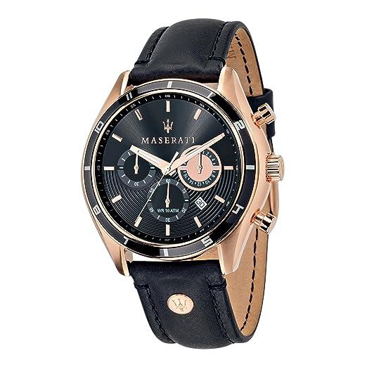 Maserati Reloj Cronógrafo de Cuarzo para Hombre con Correa de Cuero - R8871624001: Amazon.es: Relojes